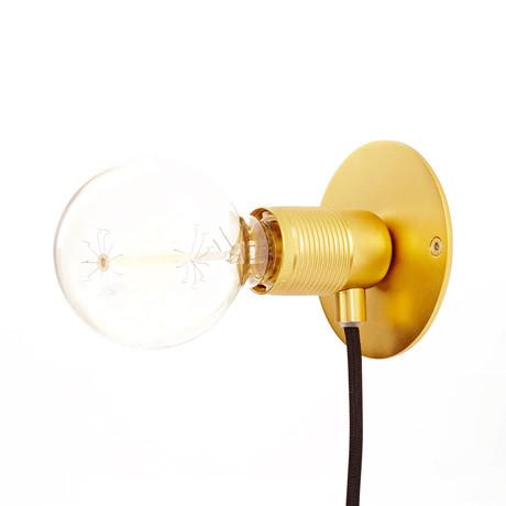 E27 Wall Light // Small (Brass)