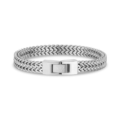 """Double Franco Bracelet // 8mm // Steel (7.5"""")"""