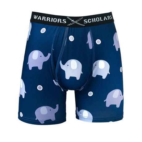 Elephant Warrior Fit Moisture Wicking Boxer Brief // Dark Blue (S)