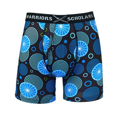 Centric Warrior Fit Moisture Wicking Boxer Brief // Blue + Black (S)