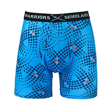 Matrix Warrior Fit Moisture Wicking Boxer Brief // Blue (S)