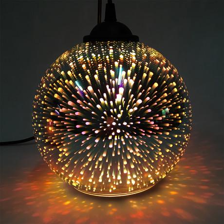 "Rainbow Light // Ceiling Pendant Light // Gold (5.9""Ø)"