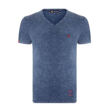 Matthew Tie Dyed T-Shirt // Navy (XS)