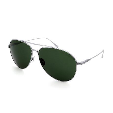 Men's FT0747-16N Sunglasses // Silver + Green