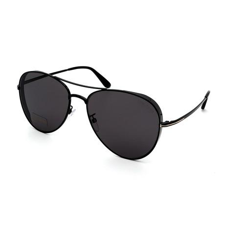 Men's FT0723-01D Aviator Sunglasses // Smoke Black