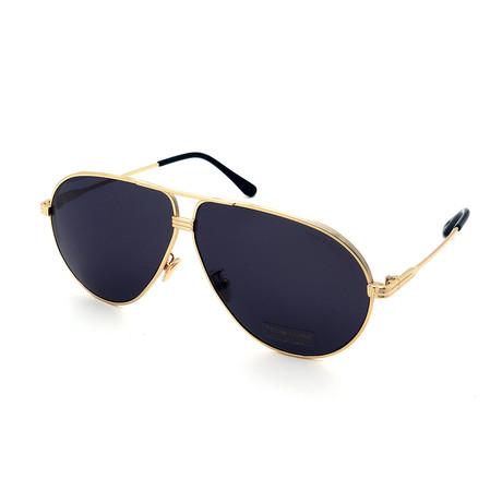 Men's FT0734H-30A Sunglasses // Gold + Dark Gray