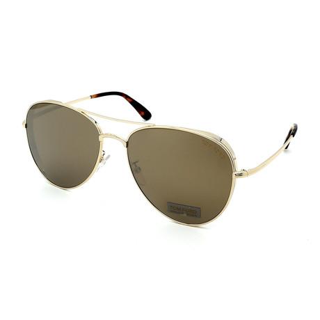 Men's FT0723-32G Aviator Sunglasses // Gold