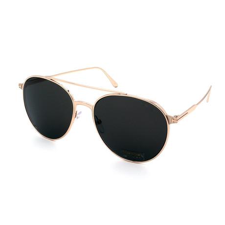 Men's FT0691-28A Round Sunglasses // Gold + Gray