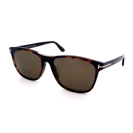 Men's FT0629-52H Rectangular Sunglasses // Tortoise + Brown