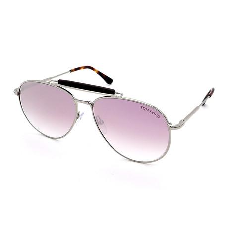 Men's FT0536-16Z Sunglasses // Silver + Purple Gray Gradient