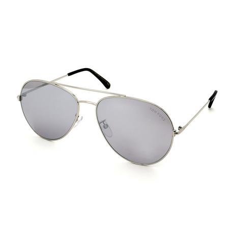 Men's FT0636K-18C Sunglasses // Silver + Silver Mirror