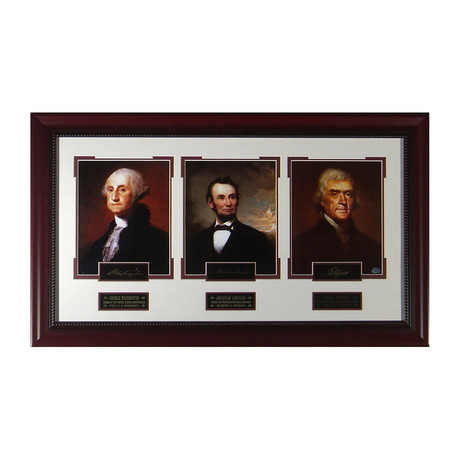 Past Presidents // Facsimile Signature Display