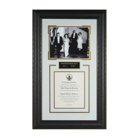 Inaugural Ball // John F. + Jackie Kennedy // Facsimile Signature Display