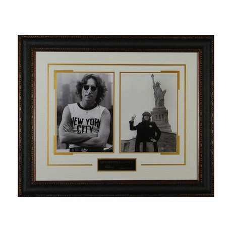 John Lennon // Let's Give Peace A Chance // Facsimile Signature Display
