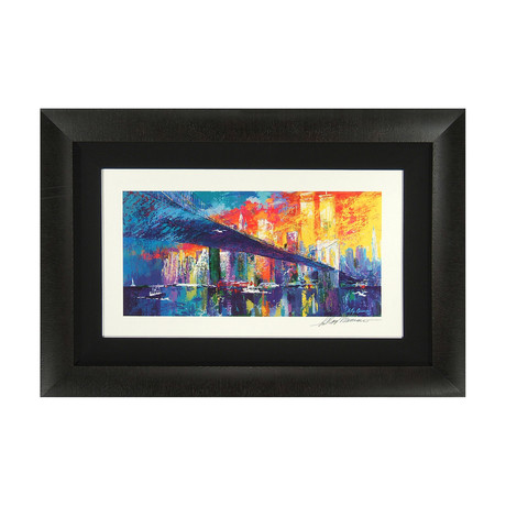 Brooklyn Bridge by Leroy Neiman // Artist Signed