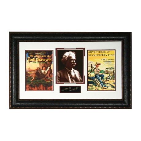 Mark Twain // Facsimile Signature Display