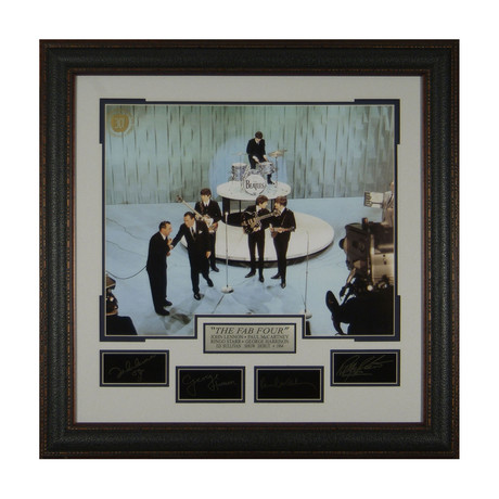 The Beatles on Ed Sullivan Show // Facsimile Signature Display