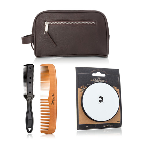 Comb Duo Set + Magnifying Mirror in Toiletry Bag