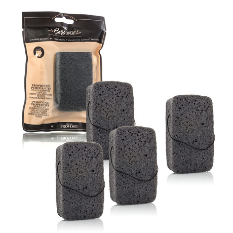 Exfoliating Charcoal Konjac Facial Sponge // 4 Pack