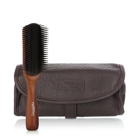 Detangling Brush + Leatherette Bag