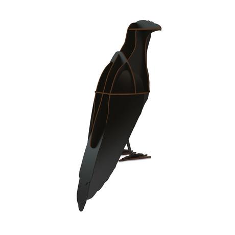 Ravens Alfred // Mini Shelf Unit // Brushed Black