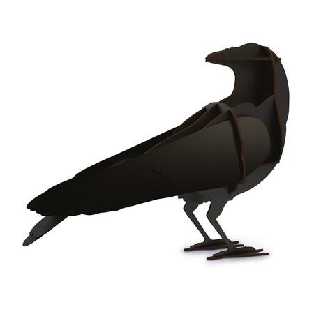 Ravens Edgar // Mini Shelf Unit // Brushed Black