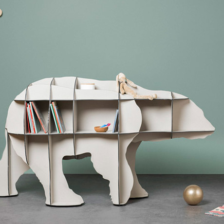 Junior Small Bear // Central Bookcase (Brushed Black)