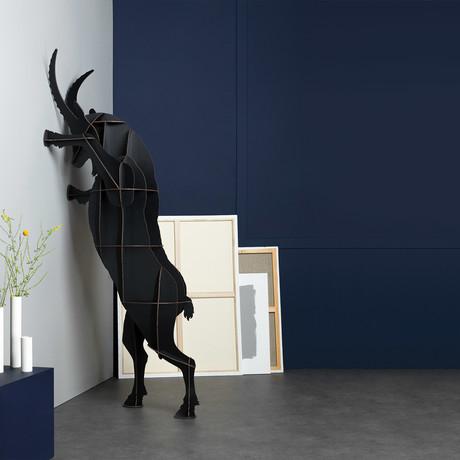 Fausto Ibex // Wall Storage (Brushed Black)
