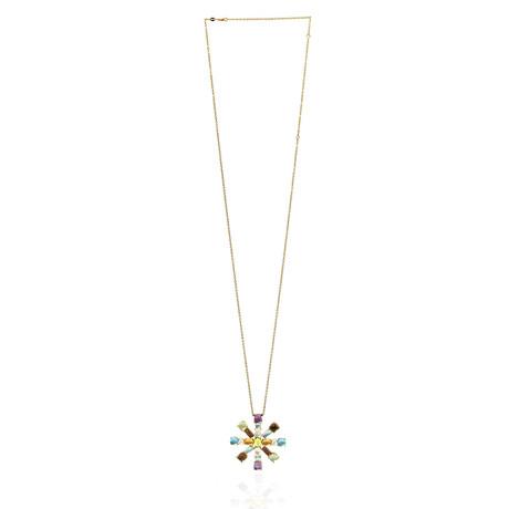 Roberto Coin 18k Yellow Gold Diamond + Amethyst Necklace