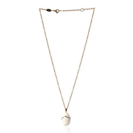 Roberto Coin 18k Rose Gold + Enamel Necklace