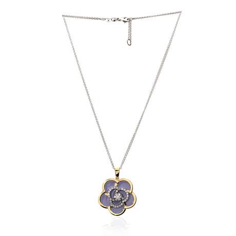 Roberto Coin 18k Two-Tone Gold + Enamel Diamond Necklace