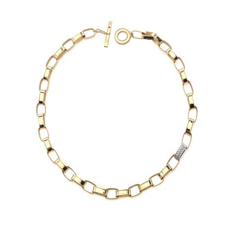 Roberto Coin 18k Yellow Gold Diamond Necklace
