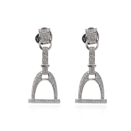 Roberto Coin 18k White Gold Diamond Earrings I