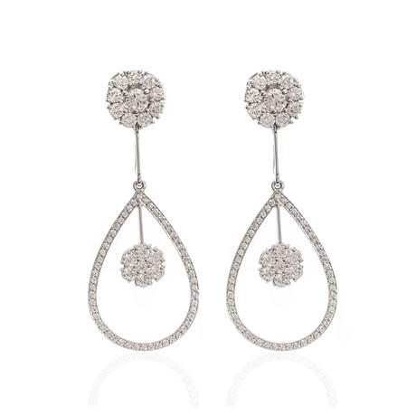 Roberto Coin 18k White Gold Diamond Dangle Earrings