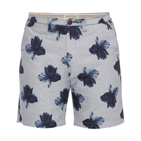 Floral Morgan Bermuda Short // Blue + Navy (28)