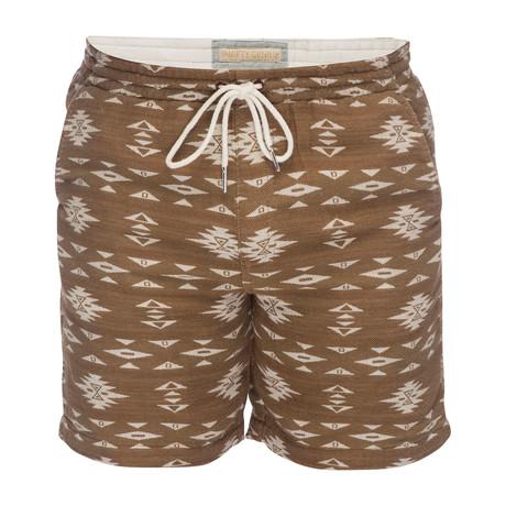 Steve Jacquard Pull On Short // Brown + Cream (XS)