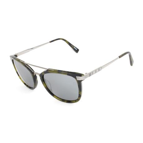 Men's EZ0078 Sunglasses // Grren Havana + Silver