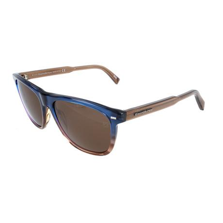 Men's EZ0041 Sunglasses // Blue + Brown