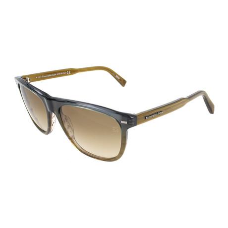 Men's EZ0041 Sunglasses // Gray + Brown