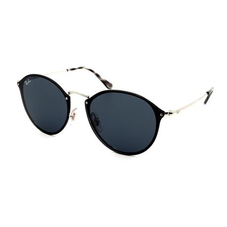 Ray-Ban // Men's RB3574N-3-87 Blaze Round Sunglasses // Black + Gray Gradient