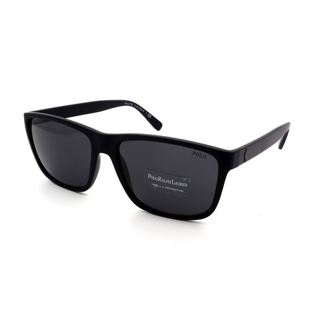 Polo // Men's PH4113-528487 Sunglasses // Matte Black + Gray