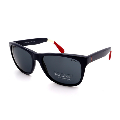 Polo // Men's PH4106-556987 Sunglasses // Navy Blue + White + Red
