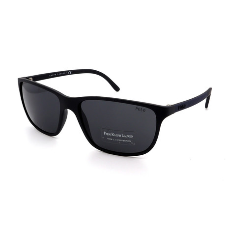 Polo // Men's PH4092-550587 Sunglasses // Black + Gray