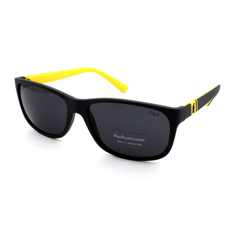 Polo // Men's PH4109-558987 Sunglasses // Black + Gray