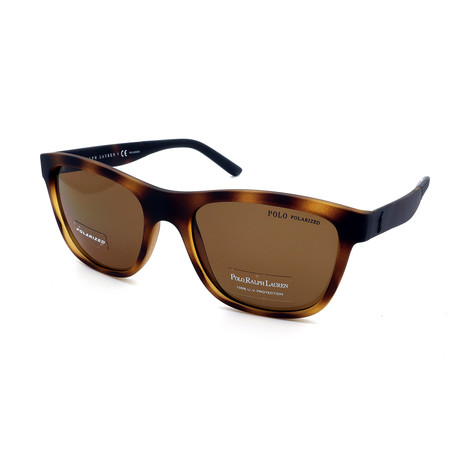 Polo // Men's PH4120-560283 Polarized Sunglasses // Matte Havana + Brown