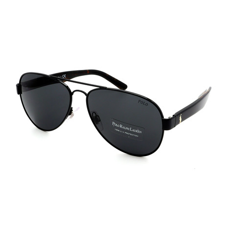 Polo // Men's PH3096-926787 Sunglasses // Black + Gray