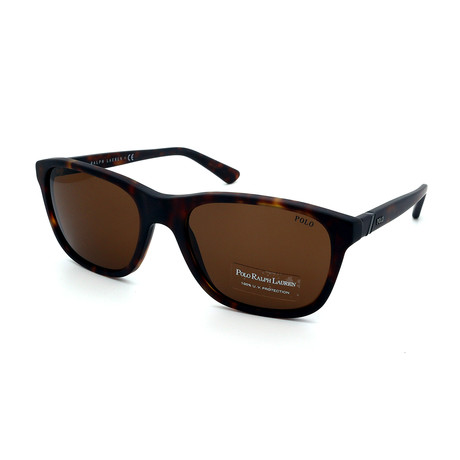 Polo // Men's PH4085-518273 Sunglasses // Matte Dark Havana + Brown