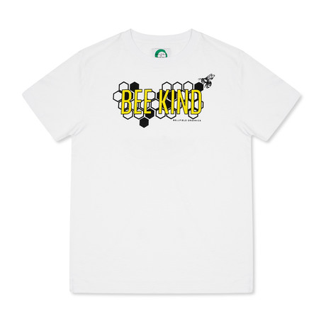 Bee Kind T-Shirt // White (S)