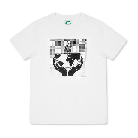 Hands Holding The Earth T-Shirt // White (S)