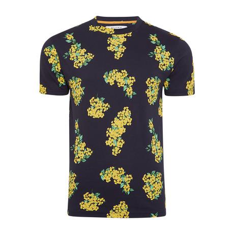 Printed T-Shirt // Navy (S)
